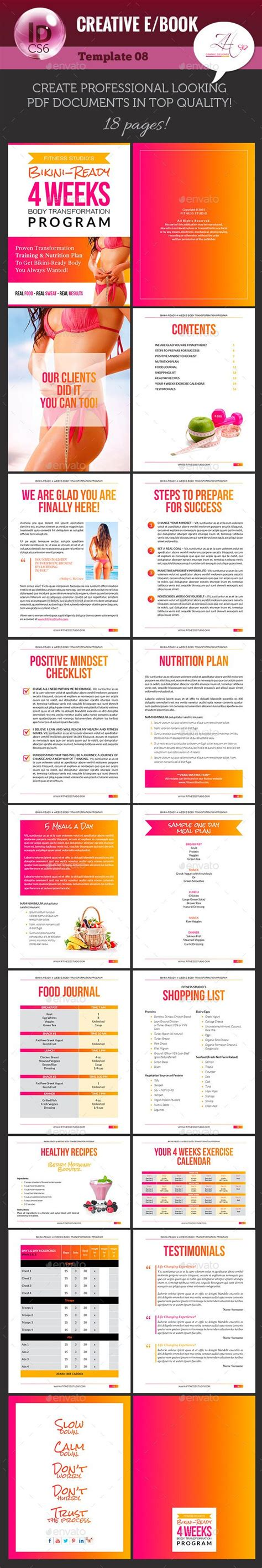 Creative E Book V 08 E Books Creative And Book Challenge Fitness Ebook Template