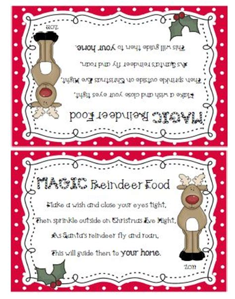 printable magic reindeer food gift tags sailing through 1st grade reindeer food