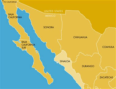 map of mexico sinaloa image gallery sinaloa