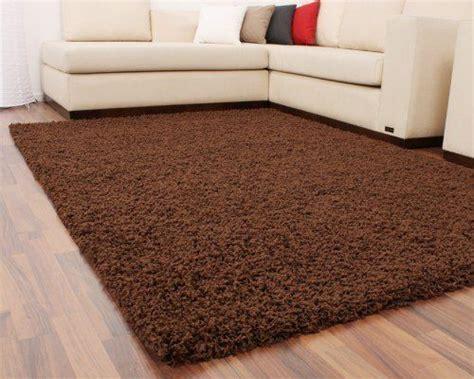 staubsauger langflor teppiche shaggy braun hochflor langflor teppich uni brown top preis