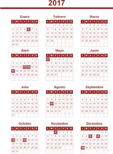Calendario Laboral 2017 Pdf Calendario Laboral