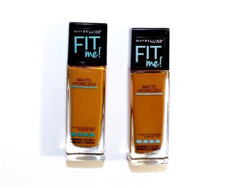 Maybelline Fit Me Foundation Matte Poreless maybelline fit me matte poreless foundation 338 compared to 355