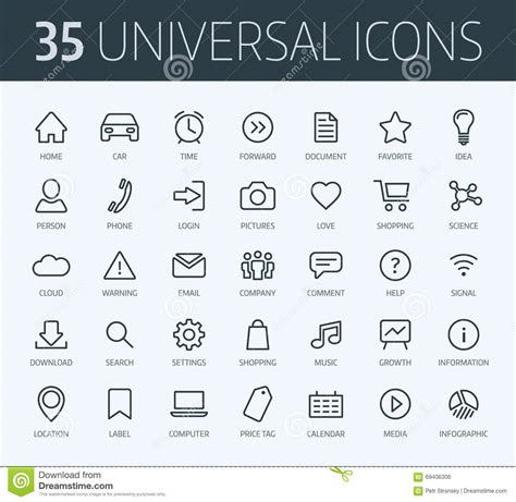 format eps signification line icons set 35 cartoon vector cartoondealer com 44324405