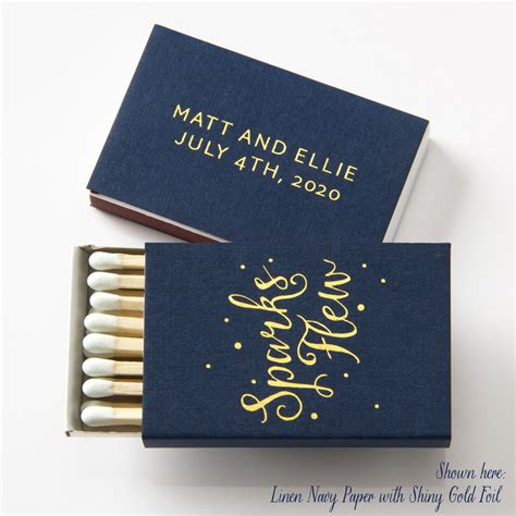 Wedding Box Matches by Sparks Flew Matchboxes Wedding Favors Wedding Matches