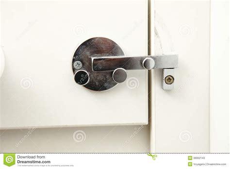 lock on bathroom door stock photo image 39002143