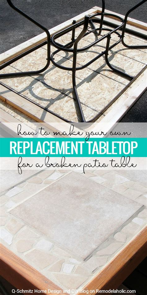 Remodelaholic How To Replace A Patio Table Top With Tile Diy Patio Table Top