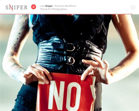 themes the sniper story sniper wordpress theme for photographer themeshaker com
