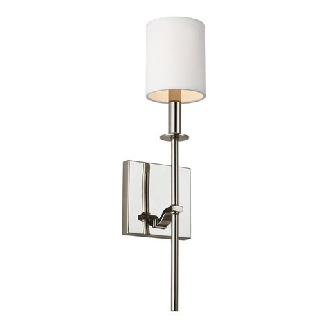 Polished Nickel Sconces by Hton Bay Whitford 1 Light Polished Nickel Sconce
