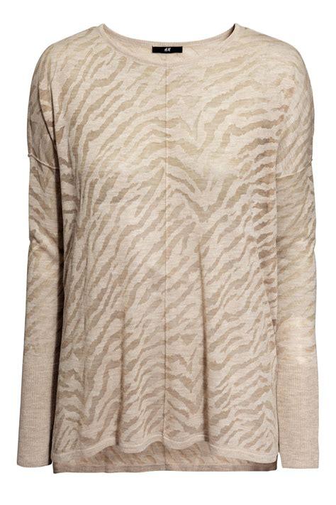 pattern knit sweater h m oversized sweater light beige burnout pattern sale h