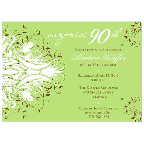 90th birthday invites templates 90th birthday invitation wording