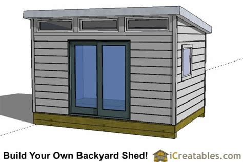 contemporary shed plans modern shed plans modern diy office studio shed designs