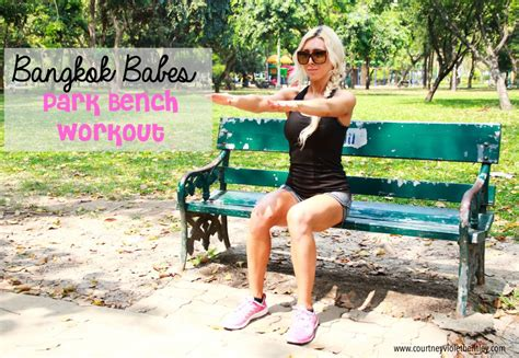 park bench exercises park bench workout for women