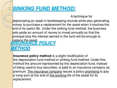 Sinking Fund Method Of Depreciation With Exle by Auditing Depreciation For B
