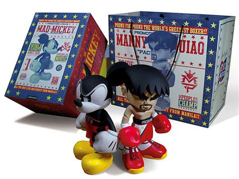 the mad toy manny pacquiao x bloc28 mad mickey toy set highsnobiety
