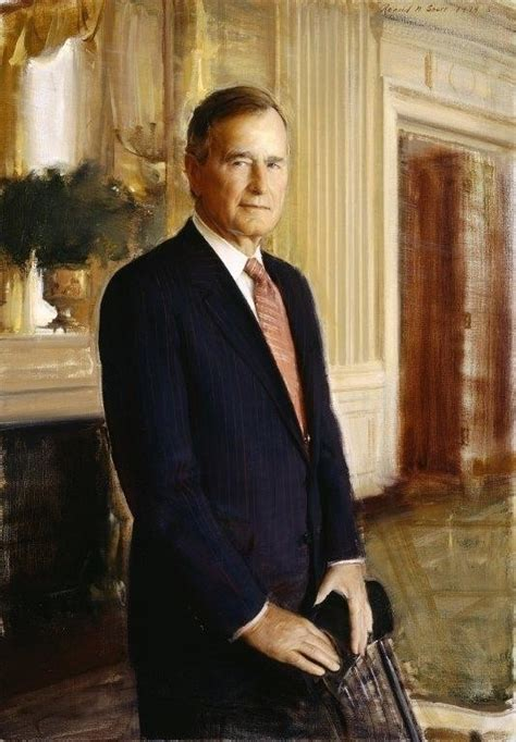 the 41st us president george h w bush george h w bush official portrait yes it s bigger in
