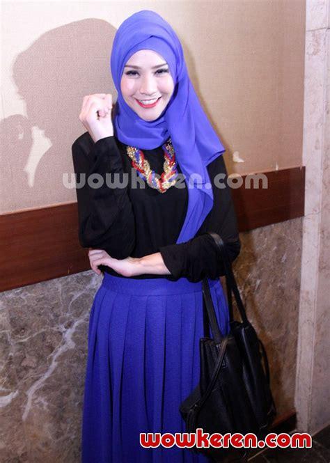 design baju zaskia adya mecca foto zaskia adya mecca di acara fashion show busana muslim