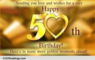 50th birthday wish free milestones ecards greeting cards 123 greetings