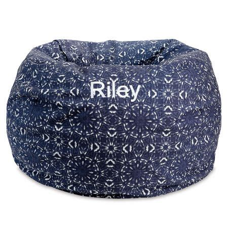 blue kaleidoscope personalized bean bag chair lillian vernon