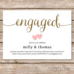 engagement invitation engagement invite engagement dinner couples shower diy