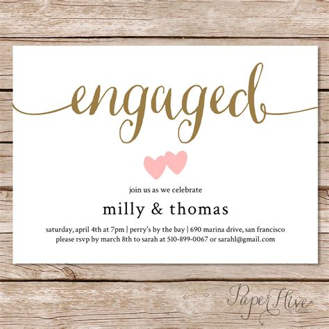 engagement invitation templates free engagement invitation engagement invite