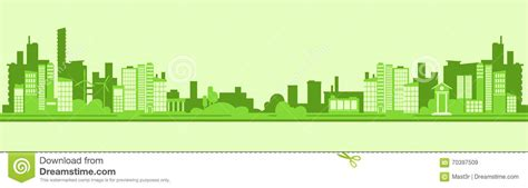 Free Modern House Plans green silhouette eco city flat vector stock vector image