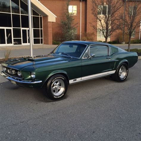 1967 ford mustang fastback green 1967 ford mustang fastback 428 4 speed gt moss green