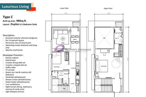 Dua Residency Floor Plan Solstice Cyberjaya Property Exchange