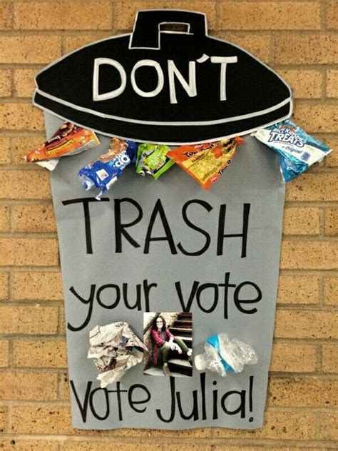 Student government / council poster. Don't Trash your vote ... Walmart Slogan