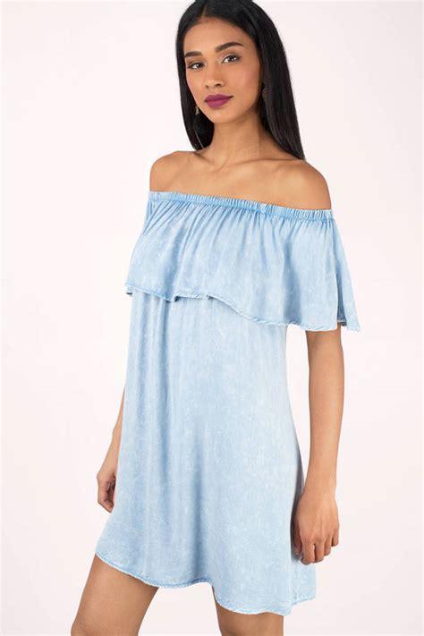 Dress Ruffle Blue blue dresses navy blue dresses light blue prom dresses