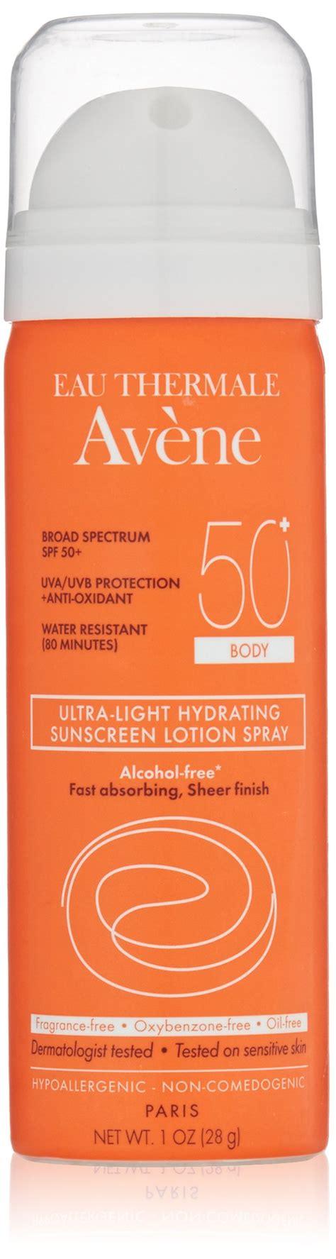 avene eau thermale ultra light hydrating sunscreen lotion eau thermale av 232 ne ultra light spf 50 plus hydrating