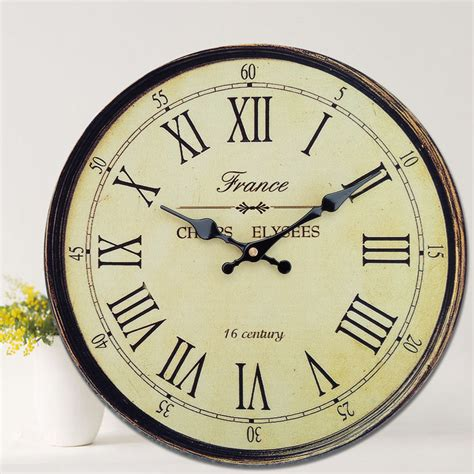 Vintage Wall Clock antique clock wall rustic vintage style wooden