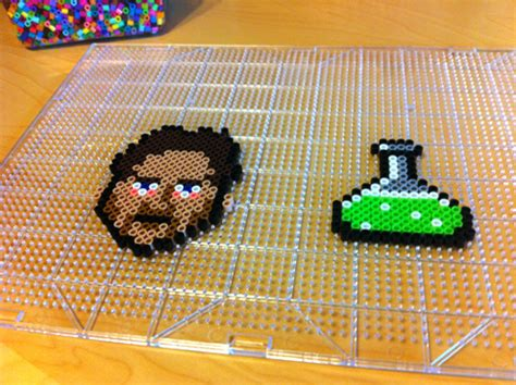 things you can make with perler how to make 8 bit quot breaking bad quot perler bead pixel