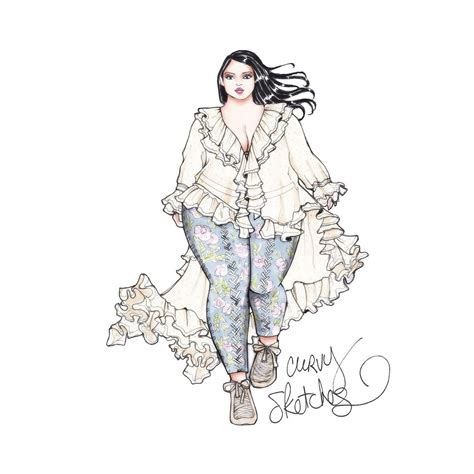 Fab Read Fashion Illustrations By Fashion Designers by Once Upon A Curvy Sketch Artist Doyle