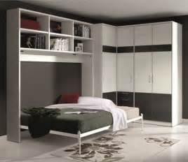 armoires lits armoire lit escamotable athena avec dressing et rangements couchage 140 190cm armoires