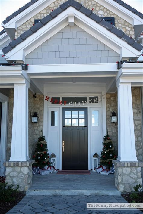 craftsman front porch christmas front porch the sunny side up blog