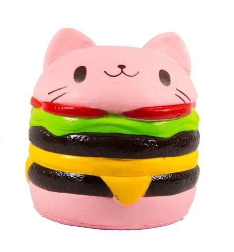 Soft And Slowrise Squishy Vlo Burger jumbo squishy cat hamburger squishy rising scented