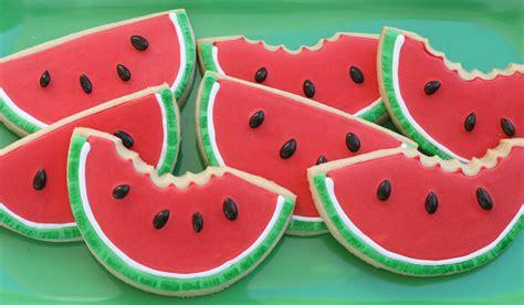shaped cookies watermelon shaped cookies glorious treats