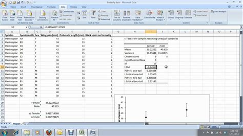 test t student excel 5 how to do a t test in excel for carleton
