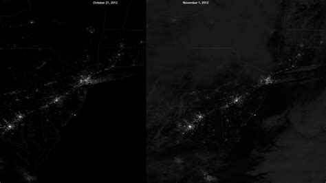 Light Outage by Blackouts From Space Photos Show Power Outages Across New York New Jersey Huffpost
