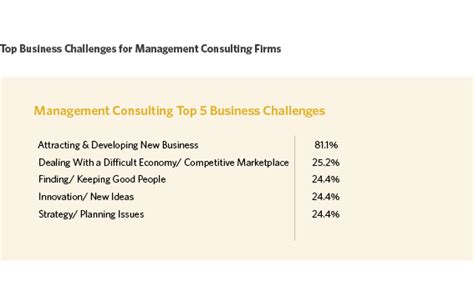 top 5 business challenges for management consulting firms