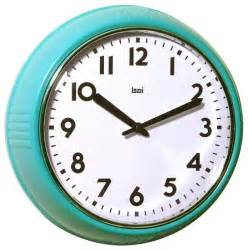Wall Clocks Bai School Wall Clock Turquoise Modern Clocks By