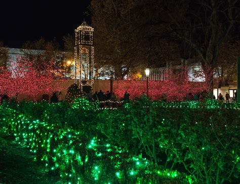 mormon temple lights mormonism in pictures temple square dressed for