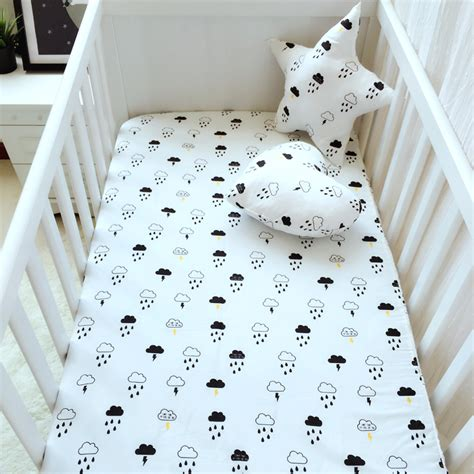 soft baby crib sheets 6 color crib sheets 100 cotton adornment soft baby mattress cover print cloud cat swan pattern