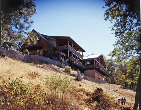 Cabin Home On The Hill by Planning A Creekside Log Home In California