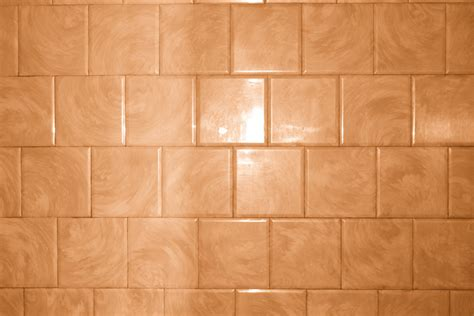 Bathroom Tile Patterns | rust orange bathroom tile with swirl pattern texture