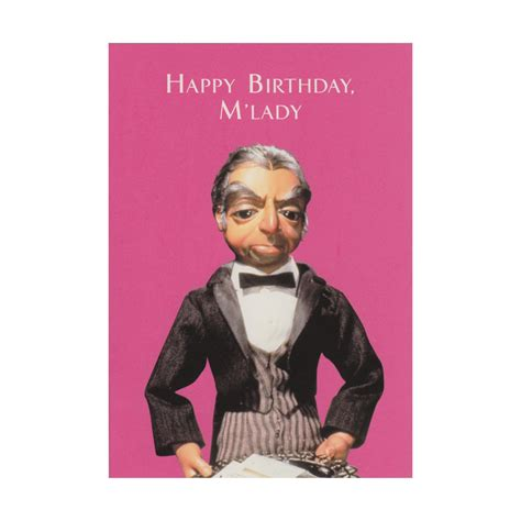 Lady M Gift Card - thunderbirds quot happy birthday m lady quot greeting card cards wrap gift bags