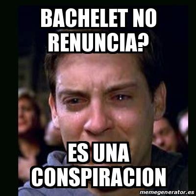 Ggg Meme Generator - meme crying peter parker bachelet no renuncia es una