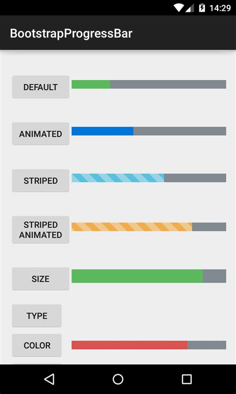 android progress bar github bearded hen android bootstrap bootstrap style widgets for android with glyph icons