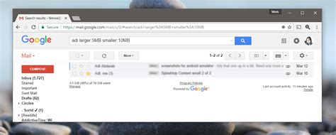 Gmail Email Search How To Search For Emails By Size In Gmail Tech Tips Buzz