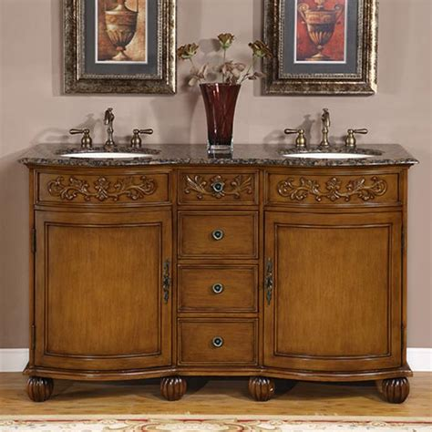 Already Assembled Kitchen Cabinets by 58 Inch Carnation Vanity Double Sink Chest Double Sink